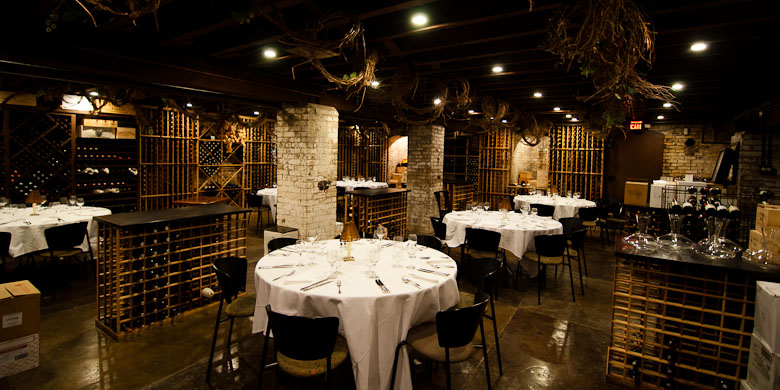 Private party seating in our extensive wine cellar
