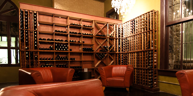Private lounge seating in our wine room for private events